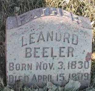 BEELER, LEONARD - Union County, South Dakota | LEONARD BEELER - South Dakota Gravestone Photos