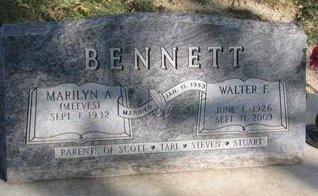 BENNETT, WALTER F. - Union County, South Dakota | WALTER F. BENNETT - South Dakota Gravestone Photos