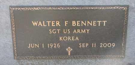 BENNETT, WALTER F. (KOREA) - Union County, South Dakota | WALTER F. (KOREA) BENNETT - South Dakota Gravestone Photos