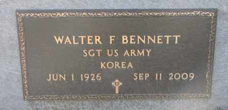 BENNETT, WALTER F. (KOREA) - Union County, South Dakota   WALTER F. (KOREA) BENNETT - South Dakota Gravestone Photos