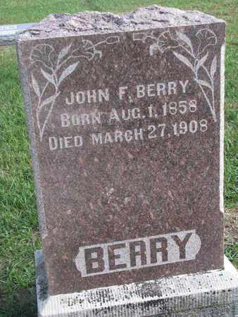 BERRY, JOHN F. - Union County, South Dakota   JOHN F. BERRY - South Dakota Gravestone Photos