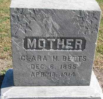 BETTS, CLARA M. - Union County, South Dakota   CLARA M. BETTS - South Dakota Gravestone Photos