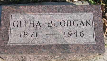 BJORGAN, GITHA - Union County, South Dakota | GITHA BJORGAN - South Dakota Gravestone Photos