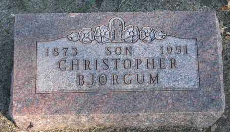 BJORGUM, CHRISTOPHER - Union County, South Dakota | CHRISTOPHER BJORGUM - South Dakota Gravestone Photos