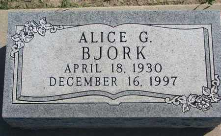 BJORK, ALICE G. - Union County, South Dakota | ALICE G. BJORK - South Dakota Gravestone Photos