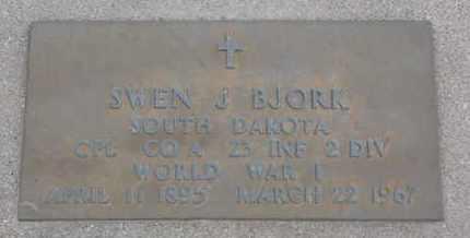 BJORK, SWEN J. (WORLD WAR I) - Union County, South Dakota | SWEN J. (WORLD WAR I) BJORK - South Dakota Gravestone Photos