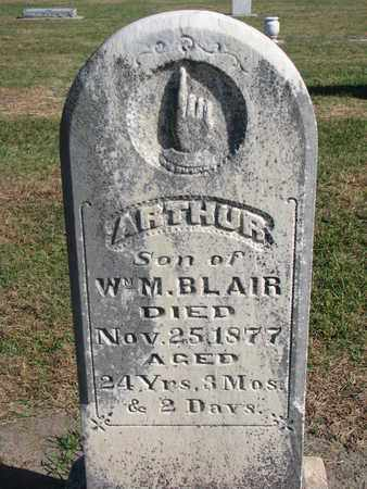 BLAIR, ARTHUR - Union County, South Dakota   ARTHUR BLAIR - South Dakota Gravestone Photos
