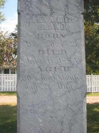 BLAND, ALEXANDER (CLOSEUP) - Union County, South Dakota   ALEXANDER (CLOSEUP) BLAND - South Dakota Gravestone Photos
