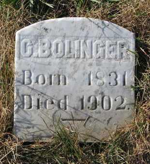 BOLINGER, C. - Union County, South Dakota   C. BOLINGER - South Dakota Gravestone Photos