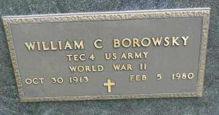 BOROWSKY, WILLIAM C. (WW II) - Union County, South Dakota | WILLIAM C. (WW II) BOROWSKY - South Dakota Gravestone Photos