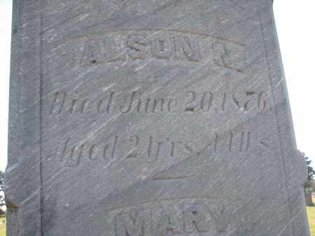 BOVEE, ALSON N. (CLOSEUP) - Union County, South Dakota | ALSON N. (CLOSEUP) BOVEE - South Dakota Gravestone Photos