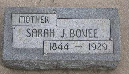 BOVEE, SARAH J. - Union County, South Dakota | SARAH J. BOVEE - South Dakota Gravestone Photos