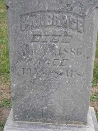 BRACE, H.J. ? (CLOSEUP) - Union County, South Dakota   H.J. ? (CLOSEUP) BRACE - South Dakota Gravestone Photos