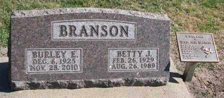 BRANSON, BURLEY E. - Union County, South Dakota | BURLEY E. BRANSON - South Dakota Gravestone Photos