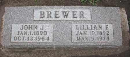 BREWER, LILLIAN E. - Union County, South Dakota | LILLIAN E. BREWER - South Dakota Gravestone Photos