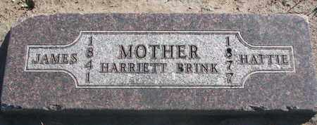 BRINK, HARRIETT - Union County, South Dakota | HARRIETT BRINK - South Dakota Gravestone Photos