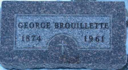 BROUILLETTE, GEORGE - Union County, South Dakota   GEORGE BROUILLETTE - South Dakota Gravestone Photos