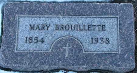BROUILLETTE, MARY - Union County, South Dakota   MARY BROUILLETTE - South Dakota Gravestone Photos