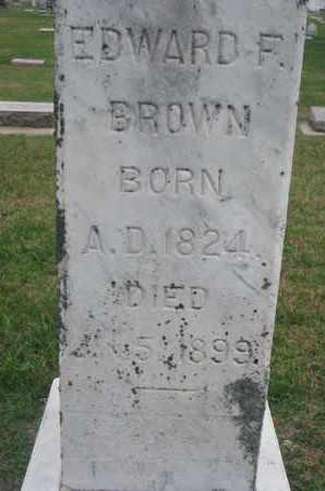 BROWN, EDWARD F. (CLOSEUP) - Union County, South Dakota | EDWARD F. (CLOSEUP) BROWN - South Dakota Gravestone Photos