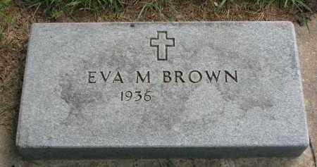 BROWN, EVA M. - Union County, South Dakota | EVA M. BROWN - South Dakota Gravestone Photos