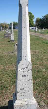 BROWN, MAHLON - Union County, South Dakota   MAHLON BROWN - South Dakota Gravestone Photos