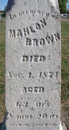 BROWN, MAHLON (CLOSEUP) - Union County, South Dakota | MAHLON (CLOSEUP) BROWN - South Dakota Gravestone Photos