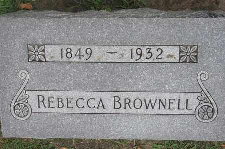 BROWNELL, REBECCA - Union County, South Dakota | REBECCA BROWNELL - South Dakota Gravestone Photos