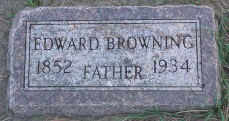 BROWNING, EDWARD - Union County, South Dakota   EDWARD BROWNING - South Dakota Gravestone Photos