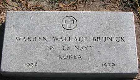 BRUNICK, WARREN WALLACE (KOREA) - Union County, South Dakota   WARREN WALLACE (KOREA) BRUNICK - South Dakota Gravestone Photos