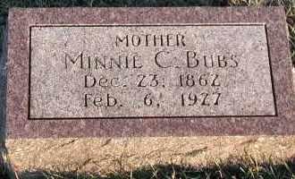 BUBS, MINNIE C. - Union County, South Dakota | MINNIE C. BUBS - South Dakota Gravestone Photos