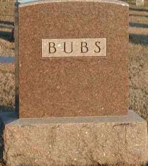 BUBS, PLOT - Union County, South Dakota | PLOT BUBS - South Dakota Gravestone Photos