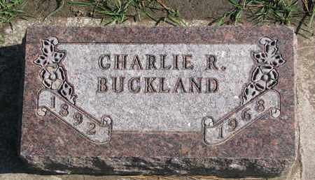 BUCKLAND, CHARLIE R. - Union County, South Dakota | CHARLIE R. BUCKLAND - South Dakota Gravestone Photos