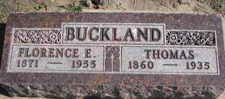 BUCKLAND, THOMAS - Union County, South Dakota | THOMAS BUCKLAND - South Dakota Gravestone Photos