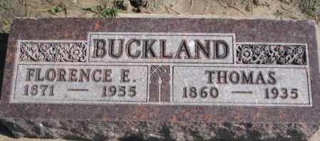BUCKLAND, FLORENCE E. - Union County, South Dakota | FLORENCE E. BUCKLAND - South Dakota Gravestone Photos