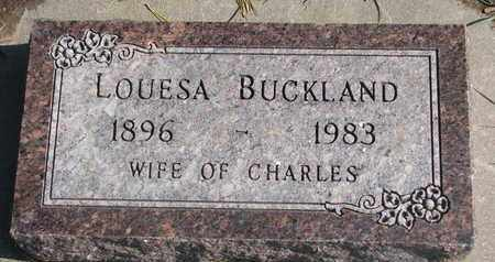 BUCKLAND, LOUESA - Union County, South Dakota | LOUESA BUCKLAND - South Dakota Gravestone Photos