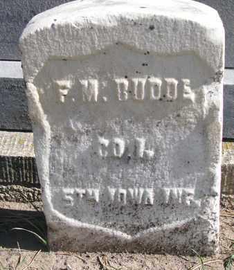 BUDDE, FRANK M. (CIVIL WAR) - Union County, South Dakota | FRANK M. (CIVIL WAR) BUDDE - South Dakota Gravestone Photos