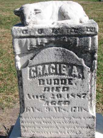 BUDDE, GRACIE A. - Union County, South Dakota   GRACIE A. BUDDE - South Dakota Gravestone Photos