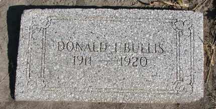 BULLIS, DONALD E. - Union County, South Dakota   DONALD E. BULLIS - South Dakota Gravestone Photos