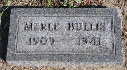 BULLIS, MERLE - Union County, South Dakota   MERLE BULLIS - South Dakota Gravestone Photos