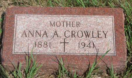 CROWLEY, ANNA A. - Union County, South Dakota   ANNA A. CROWLEY - South Dakota Gravestone Photos