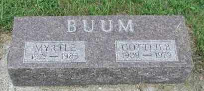 BUUM, MYRTLE - Union County, South Dakota | MYRTLE BUUM - South Dakota Gravestone Photos