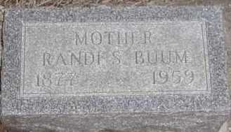 BUUM, RANDI S - Union County, South Dakota | RANDI S BUUM - South Dakota Gravestone Photos