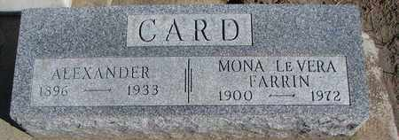 FARRIN CARD, MONA LEVERA - Union County, South Dakota | MONA LEVERA FARRIN CARD - South Dakota Gravestone Photos