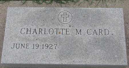 CARD, CHARLOTTE M. - Union County, South Dakota | CHARLOTTE M. CARD - South Dakota Gravestone Photos