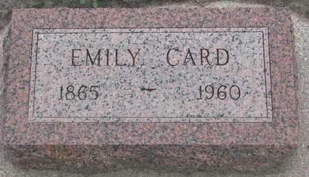 CARD, EMILY - Union County, South Dakota | EMILY CARD - South Dakota Gravestone Photos