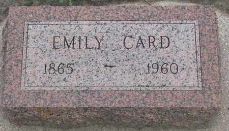 CARD, EMILY - Union County, South Dakota   EMILY CARD - South Dakota Gravestone Photos