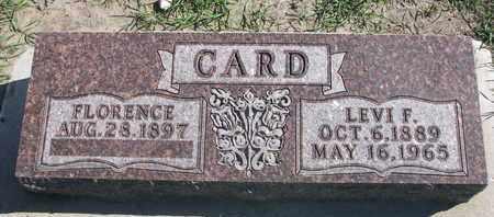 CARD, FLORENCE - Union County, South Dakota | FLORENCE CARD - South Dakota Gravestone Photos