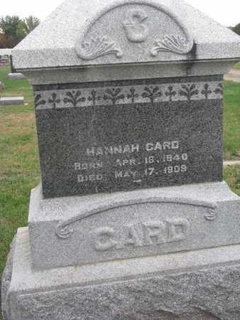 CARD, HANNAH - Union County, South Dakota | HANNAH CARD - South Dakota Gravestone Photos