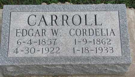 CARROLL, EDGAR W. - Union County, South Dakota | EDGAR W. CARROLL - South Dakota Gravestone Photos