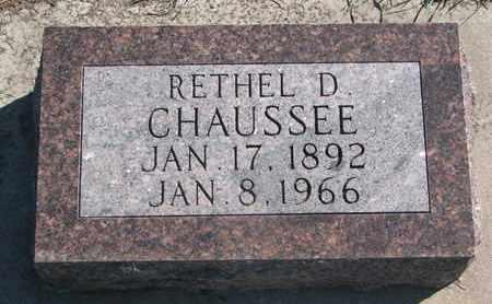 CHAUSSEE, RETHEL D. - Union County, South Dakota | RETHEL D. CHAUSSEE - South Dakota Gravestone Photos